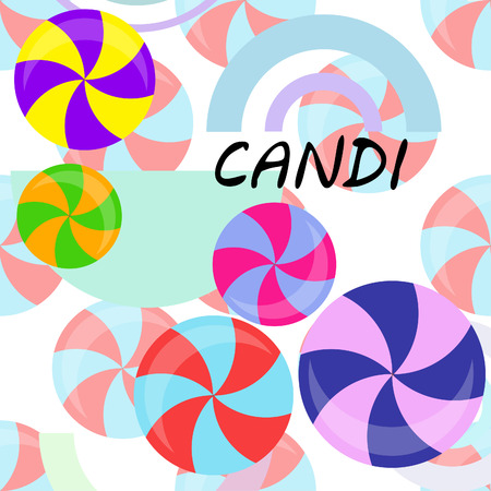 candy, sweet, hard candy, lollipop, abstract, vector illustration. 向量圖像