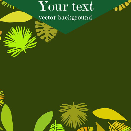 The leaves are tropical plants. Summer rest. Tropical design. Illustration