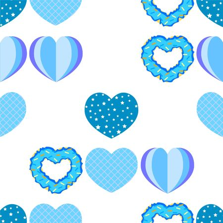 Abstract romantic background with hearts. Vector backdrop for Valentine's day.
