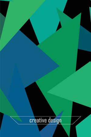 Geometric abstract polygonal background. The pattern in the style of origami, which consists of triangles. Illustration