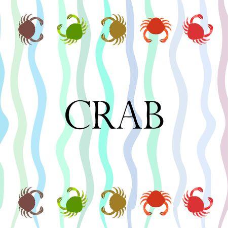 Crabs. Seafood. Vector illustration of a sea animal. 矢量图像