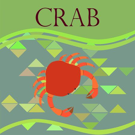 Crabs. Seafood. Vector illustration of a sea animal. Ilustração