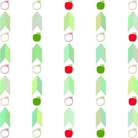 Apple frame vector illustration. Vector card design with apple and leaf.