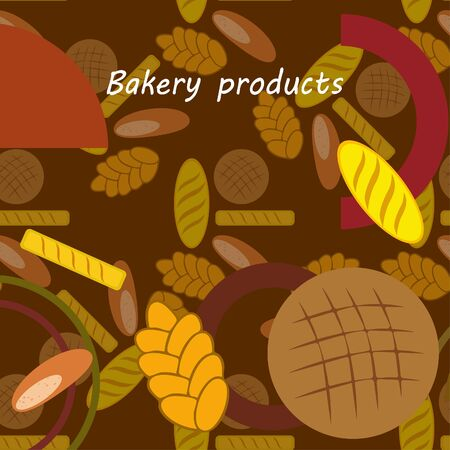 vector illustration of Bakery Product Food Collection  イラスト・ベクター素材