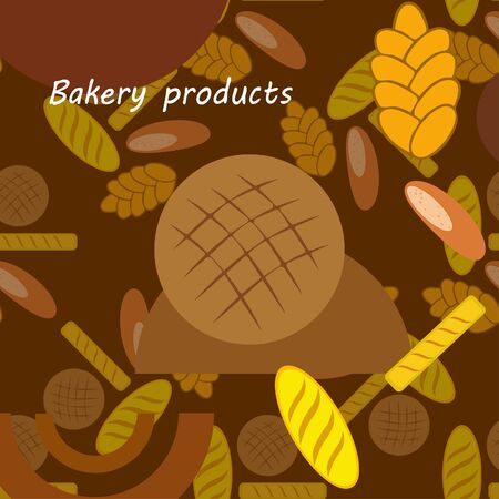 vector illustration of Bakery Product Food Collection