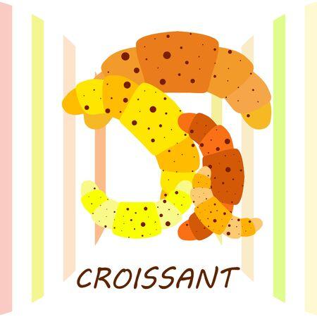croissant icon. flat illustration of croissant - vector icon. croissant sign symbol 일러스트