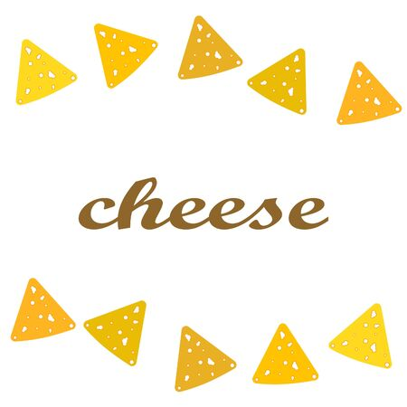 Cheese vector, appetizing cheese background, dairy product. Illustration