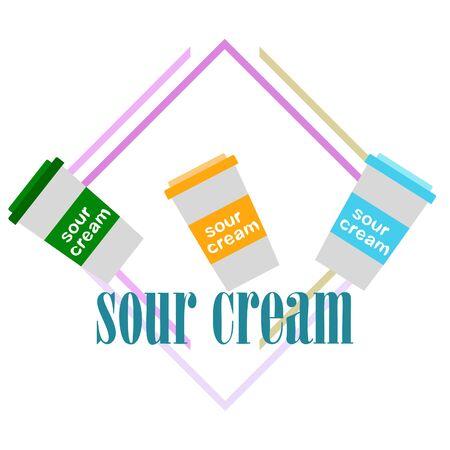 Sour cream on color design