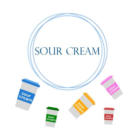 Sour cream on color design