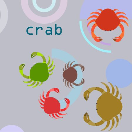 Crabs on color design