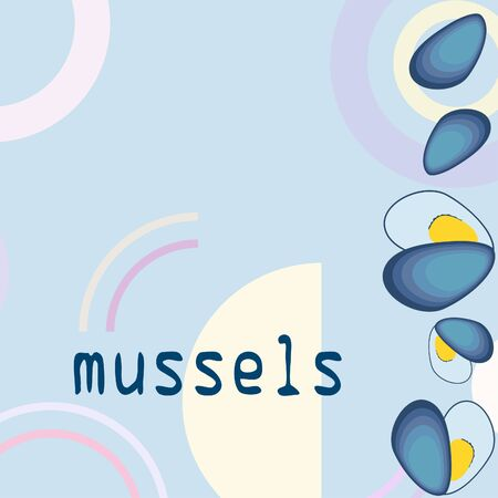Mussels fresh seafood. 写真素材 - 128957496