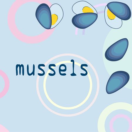Mussels fresh seafood.