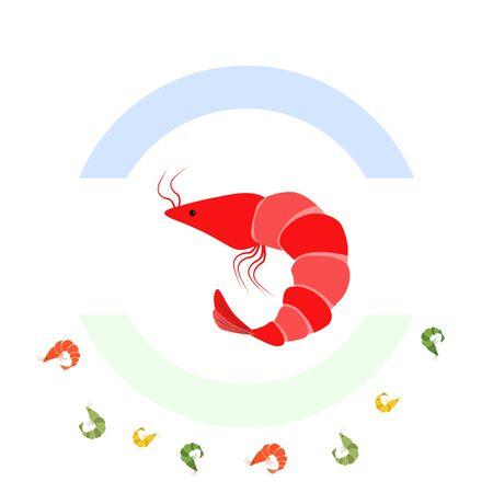 Shrimp fresh seafood.