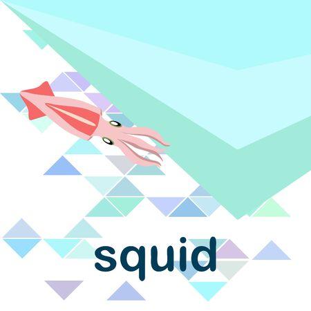 Squid fresh seafood Vetores