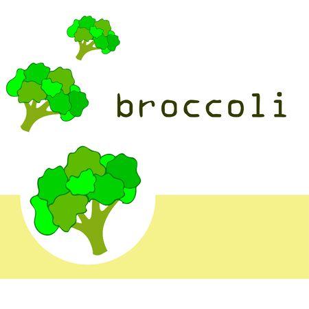 Broccoli Organic vegetable food poster. Ilustração