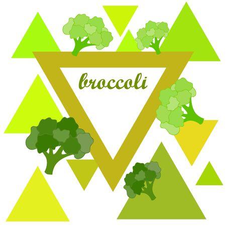Broccoli Organic vegetable food poster