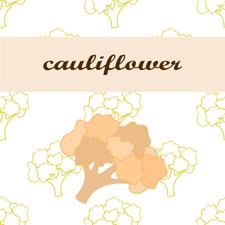 Cauliflower on food poster