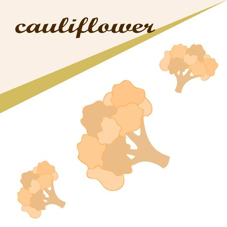 Cauliflower on food poster Banco de Imagens - 128920289