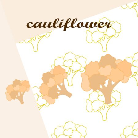 Cauliflower on food poster Banco de Imagens - 128920290
