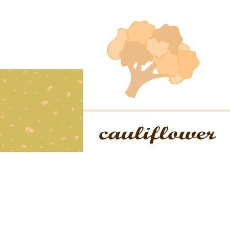 Cauliflower on food poster. Banco de Imagens - 128920253