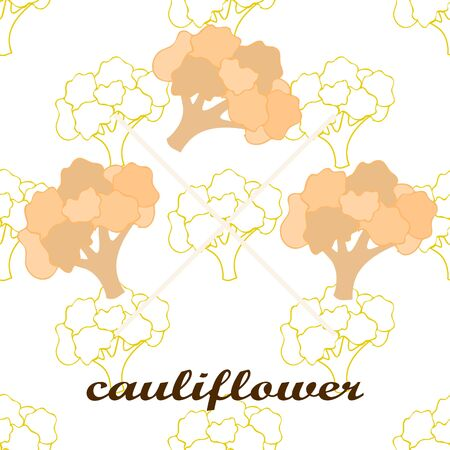 Cauliflower on food poster.