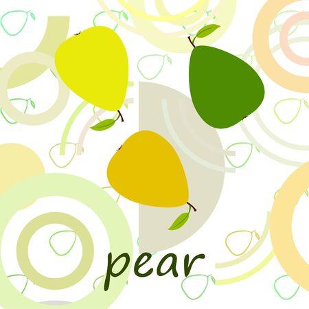 Pear on colored design