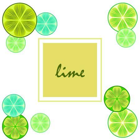 Green half and slice lime