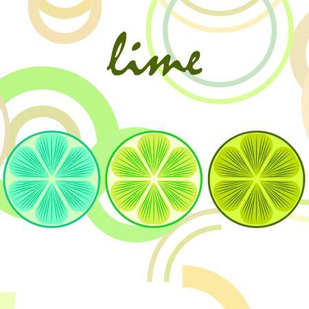 Green half and slice lime.
