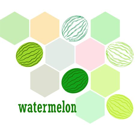 Watermelon. Banner juicy ripe watermelon slices. Summer time.