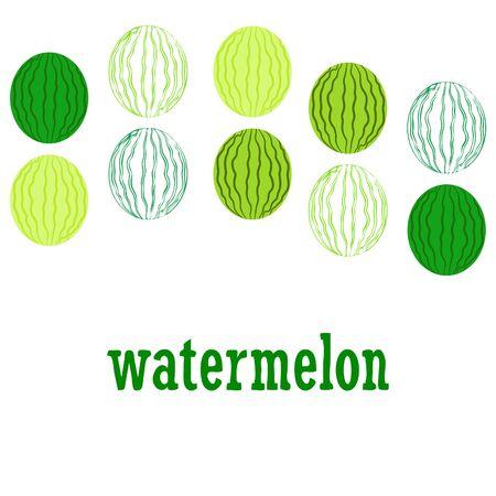 Watermelon. Banner juicy ripe watermelon