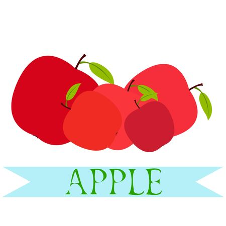 Vector card design with apple and leaf. 写真素材 - 128901097