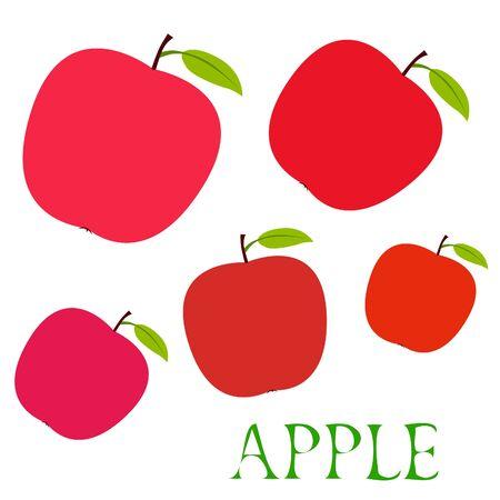Apple frame vector illustration. Vector card design with apple and leaf. 写真素材 - 128901100