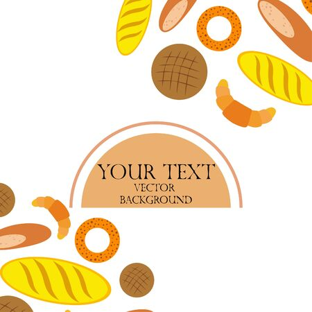 Breads graphics on white Standard-Bild - 128900844