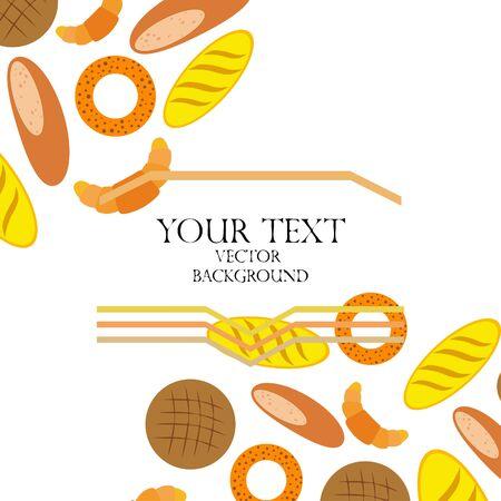 Breads graphics on white Standard-Bild - 128900845
