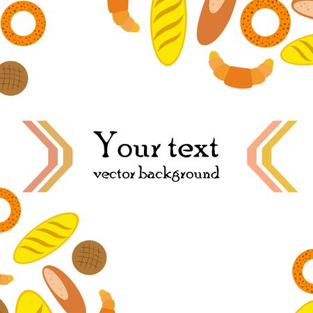 Breads graphics on white Standard-Bild - 128900863