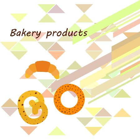 Breads graphics on white Standard-Bild - 128900857