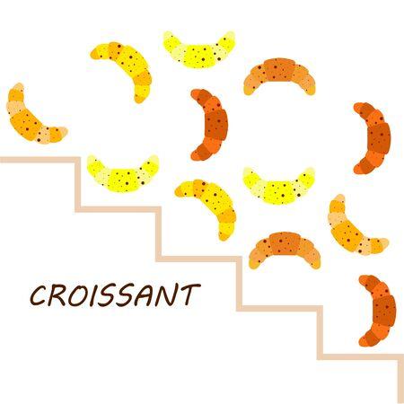 croissant icon. flat illustration of croissant - vector icon. croissant sign symbol Çizim