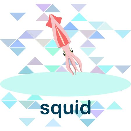 Squid seafood on white
