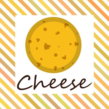 Cheese vector, appetizing cheese background, dairy product. Ilustracja