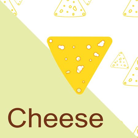 Cheese vector, appetizing cheese background, dairy product. Ilustração