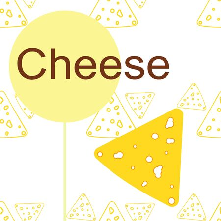 Cheese vector, appetizing cheese background, dairy product. Иллюстрация