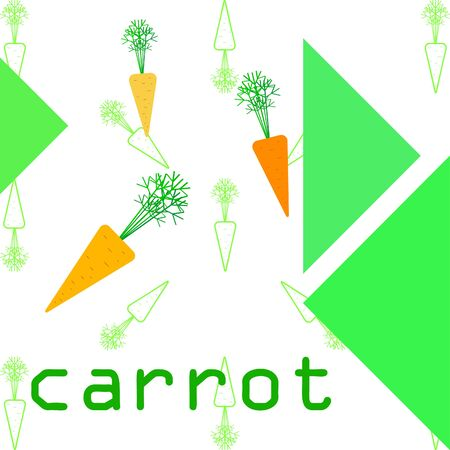 Carrot. Organic food poster. Farmer market design. Vector background. Ilustracja