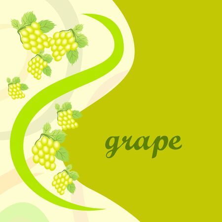 Grape with leaf. Vector elements for design Stok Fotoğraf - 129490890