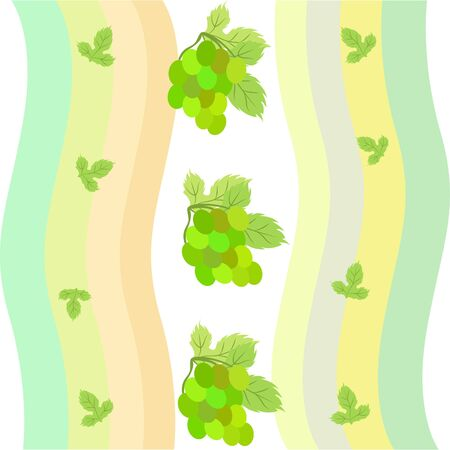Grape with leaf. Vector elements for design Stok Fotoğraf - 129490892