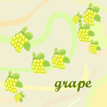 Grape with leaf. Vector elements for design  イラスト・ベクター素材
