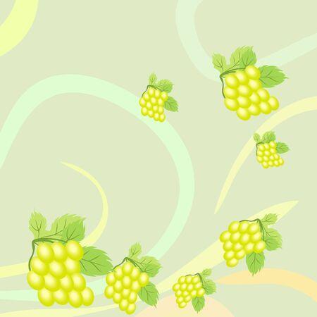 Grape with leaf. Vector elements for design Ilustração