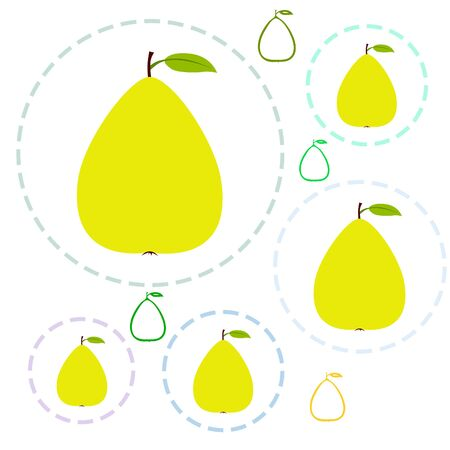 Vector illustration of a pear. Fresh cartoon organic fruit.
