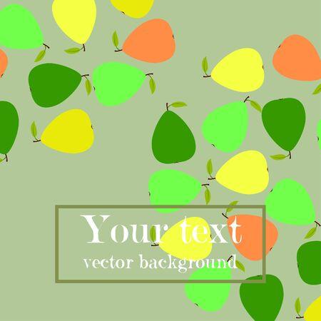 Vector illustration of a pear. Fresh cartoon organic fruit.