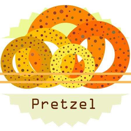 Bagels with poppy and sesame seeds flat design. Vector illustration of bakery products. Eating fresh and tasty bread.