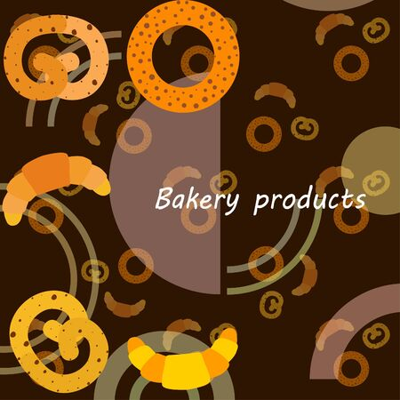 Bakery bread and pastries, bagel and croissant. Vector illustration 向量圖像